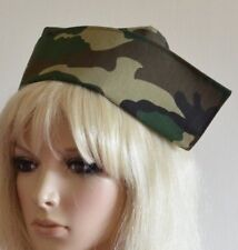 CAMOUFLAGE FABRIC NURSE HAT 2 buttons VINTAGE STYLE novelty medical army cap