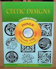 Dover Electronic Clip Art: Celtic Designs (1997, Paperback, CD-ROM)