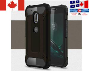 Étui Dur Armure Deluxe / Heavy Armor Case Motorola Moto G5 G6 G7 G7 Play E5 Play