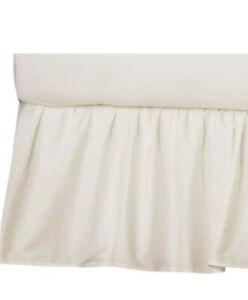 American Baby Company 100% Natural Cotton Percale Ruffled Crib Skirt Ecru Sof...
