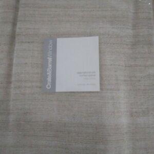 Crate & Barrel Saja Natural Silk Curtain Panel Silk & Linen 50x108 beige  NIP