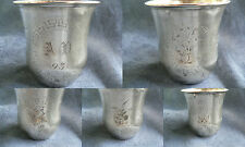 timbale en argent tête de minerve Massarti monogramme AV