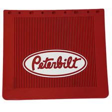 "Peterbilt Trucks 16"" x 14"" OEM Ribbed Front Fender 1/4"" Thick Red Mud Flaps-Set"