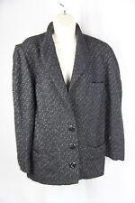 1980's Krizia made in Italy wool large herringbone black/white Jacket 40