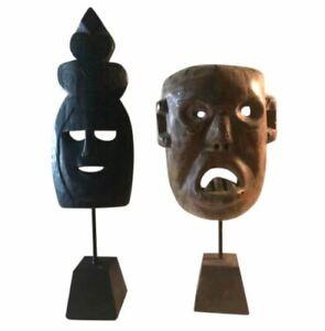 Possibly 2 Bamana Artist Mali Masks African