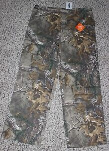 New Cabela's Youth Cover-Up REALTREE XTRA Pants Boy's Size L XL Camo Hunting
