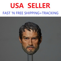 CUSTOM 1/6 scale Joel The Last of Us Head Sculpt for 12'' male figure body