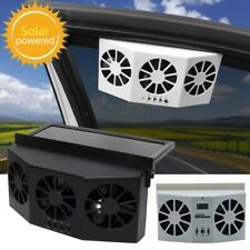 12V Portable Car Fan Air Conditioner Vehicle Truck Auto Solar Cooling Cooler