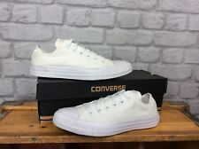 CONVERSE UK 5 EU 37.5 WHITE ALL STAR LOW MONO CANVAS TRAINERS CHUCK TAYLOR