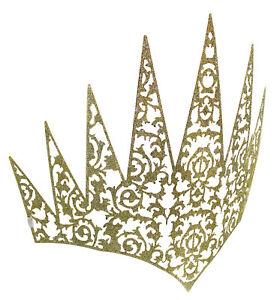 Flexible Womens Metal Glitter Crown Queen Princess Headpiece Medieval Costume