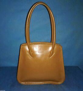 sac LA BAGAGERIE marron ivoire en cuir porté épaule