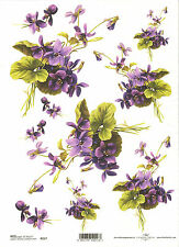 Rice Paper for Decoupage Scrapbooking, Bunch of Violets A4 ITD R217