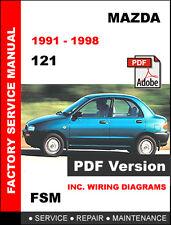 MAZDA 121 1991 - 1998 FACTORY SERVICE REPAIR WORKSHOP OEM MAINTENANCE FSM MANUAL