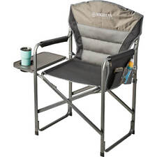 Magellan Outdoors Steel Frame Foldable Camping XL Directors Chair With Tray