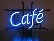 "Cafe Coffee Shop Open Light Neon Sign Beer Bar Gift 14""x10"" Lamp"