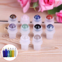 Natural Gemstone Roller Ball for 5ml 10ml THICK Essential Oil Roll on Bottle td