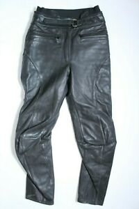 Intra Rogner Bremer Motorcycle Leather Pants Black Womens Size 38 Vintage RARE