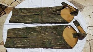 Vintage Rattlers Brand Thomaston Regular Snake Proof Camo Chaps Realtree Excelle