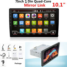"10.1"" 1 Din 1080P Touch Screen Car Stereo Radio GPS Wifi Mirror Link OBD Android"