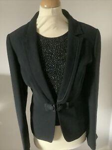 Next Black Ladies Tuxedo Type Evening Jacket Bnwt Size 16