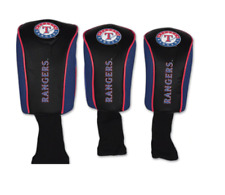 Golf Head Covers Authentic Texas Rangers Baseball Fan New 3 Lot Faux Leather