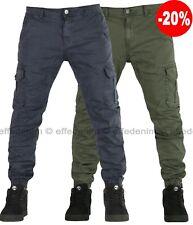 Pantaloni Uomo Cargo con tasche laterali ED Jeans Tasconi slim elasticizzati 132