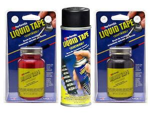 Performix Plasti Dip®  LIQUID TAPE (Electrical) - schwarz rot transparent - USA