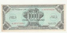 Italia 1000 AM lire 1943   BB  Good  bilingue A38757083A pick M23 rif 4018