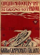 Italian motorcycle roadrace print vintage 1923 ca 8 x 10 print prent poster