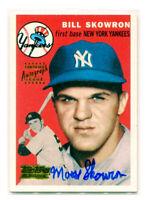 BILL MOOSE SKOWRON 2001 Team Topps Legends 1954 Rookie RC Auto Autograph Card SP