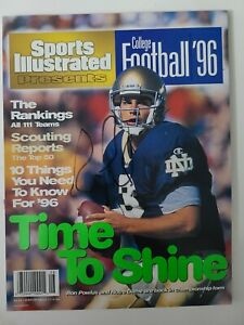 Notre Dame Ron Powlus Signed Sports Illustrated Presents No Label Football '96