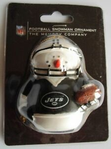New York Jets Football Snowman Christmas Ornament