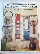 MACRAME Kitchen Home Decor Wall Art Unique Hanging Projects Pattern BOOK