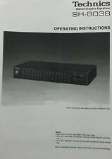 Technics SH-8038 Stereo Graphic Equalizer Operating Instruction EQ USER MANUAL