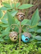 Miniature Dollhouse FAIRY GARDEN ~ Woodland Acorn Birdhouse Stake Pick ~ NEW
