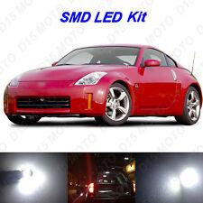 7 x White LED Interior Bulbs + License Plate Lights for 2003-2009 Nissan 350Z