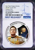 2019 Star Trek The Original Series Kirk Proof $1 1oz Silver COIN NGC PF 70 FR