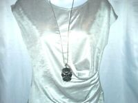 """Black crystal Pendant & necklace  32"""" silver snake chain signed R.J 53g"""