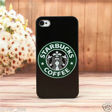 "COVER PER IPHONE 6 4.7"" IN PLASTICA RIGIDA DESIGN STARBUCKS CON SFONDO NERO"