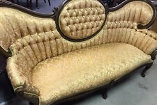 Beautiful Vintage Gold Victorian Manor Sofa
