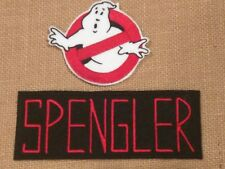 Ghostbusters inspired SPENGLER and ghost embroidered Iron on Patch set