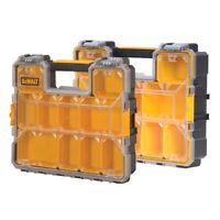 DeWalt Deep Pro Organisers Yellow/Black Tool Storage Screws Nails Box 2 PACK New