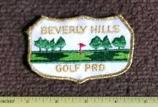 Vintage Patch BEVERLY HILLS GOLF PRO Country Club golfing sports PATCH