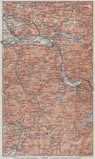 Haute-savoie. chaîne d'aravis albertville sallanches cluses bonneville 1907 carte