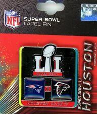 Super Bowl LI Head to Head Pin 51 NFL Falcons vs Patriots Houston TX 2017 PSG