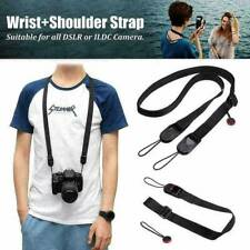 Quick Release DSLR Camera Cuff Wrist Belt Leash Shoulder Buckle w/ Strap Black