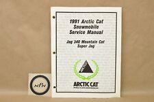 Vtg 1991 Arctic Cat Super Jag 340 Mountain Cat Snowmobile Service Repair Manual