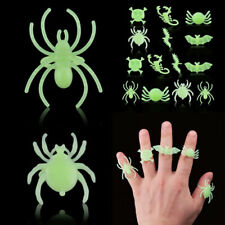 12PCS/Set Halloween Insect Spider Scorpion Finger Ring Party Favor Props Decor