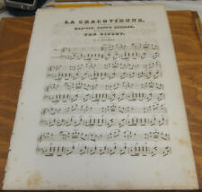 1840 Antique Sheet Music /// LA CRACOVIENNE, From the Grand Ballet of THE GIPSEY
