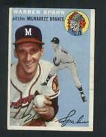 1954 Topps #20 Warren Spahn VGEX Braves 125971